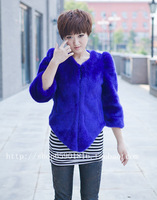 Free shipping Fur coat puff sleeve irregular three quarter sleeve women's