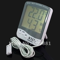 10pcs/lot New arrivals Digital LCD Indoor Outdoor Thermometer Hygrometer Sensor #593 free  shipping