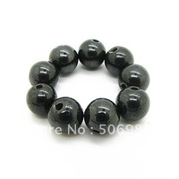 8mm 100pcs Wholesale Magnetic Black Hematite Round Stone Loose Jewelry Beads Fit Shamballa Bracelet&Necklace Free shipping HB119