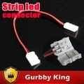 Hot led strip connector for 5050  single color led strip light with wire CE&amp;RoHS 20pcs/lot