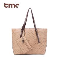 Vogue TMC Women Beige Handbag Tote Satchel Shoulder Bag & Coin Wallet Hot YL143-1