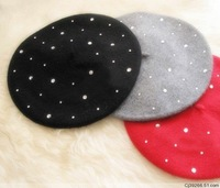 FACTORY wholesale wool beret Free shipping fashion WOOL BERET many colors in stock ,fashion hat 1pcs sale SC0381