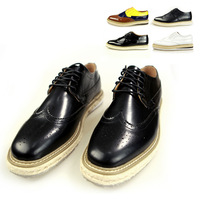 7 Colors ! 38-44 ! 2014 New Quality Patent Leather Men's Flats Black Platform Fashion Oxfords for Men PU Leather Men Loafers