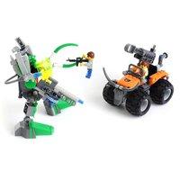 Enlighten Child 89012 DIY Educational Deformation Robot 274pcs Assembles Particles Block Toy Free Shipping