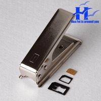 Micro Sim Card Cutter  SIM Card Adapters For iPhone 4/4 s shear card machine sim -calipers + 2 reduction card sets