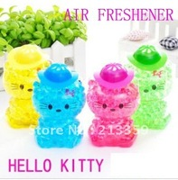 Free Shipping for Hello Kitty Car  Home Hotel  Perfume Universal Car Gel Perfume Cute Air Freshener Car Home Hotel Perfume