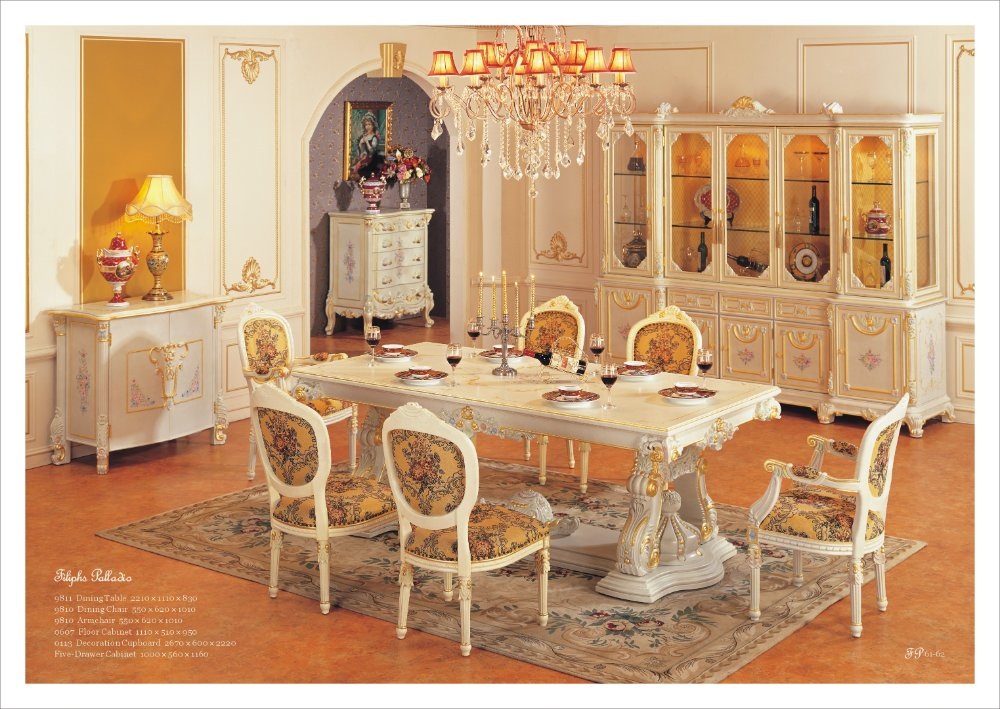 European style furniture dining room set Free shipping