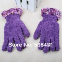free shippign Winter women's thermal women  finger Gloves autumn mixing colors 5 pairs/lot