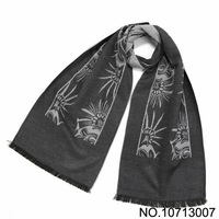 Christmas Gift Silk scarf for men long Shawls fineness modal soft touch Scarves 2013 with sun flower 190*35cm free shipping