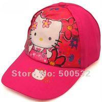 Free shipping, Hello Kitty sun visor headwear cartoon caps for children hotsale hats Christmas gifts, 10 pcs/lot Random delivery