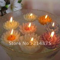 Free Shipping 30pcs/Lot Promation floating flower shape candle/ fancy floating candle