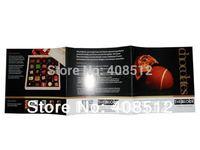 Custom design open size 375x125mm full color flyers Z fold brochure printing