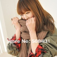 free shipping Thick women's Scarves Wraps winter long iceland wool thermal knitted scarf  warm gift