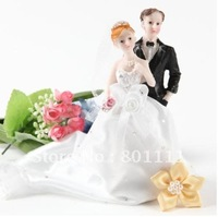 Free shipping Bride and Groom Design Cake Topper Wedding Party Anniversary Engagement Valentine's day favors