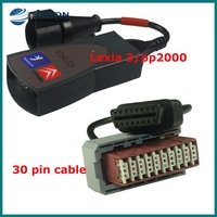 Hot selling Lexia 3  PP2000,Citroen/Peugeot Diagnostic plus 30 pin cable free shipping
