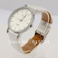 FREE SHIPPING CASUAL MEN'S COOL ANALOG QUARTZ BIG DIAL CLOCK WHITE PU LEATHER MEN WRIST WATCH OFF-WHITE