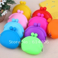 Hot-selling Candy Color Coin Purse Lovely Coin Bag Silicone Puse Japanese Style Coin Wallet ( 10 pcs/lot) Free shipping