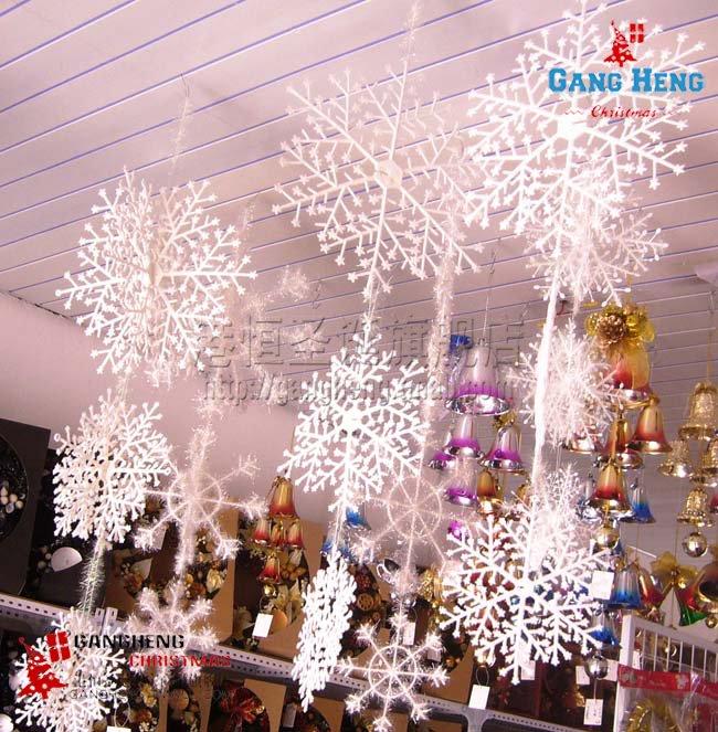 6pcs set 38cm 25cm 20cm 3d solid snowflake decoration for 3d hanging snowflake decoration