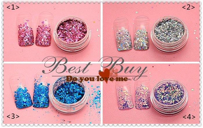china name brand high quality sweet color 16 glaze colors honey girl nail gel polish glitter powder for acrylic nail beauty(China (Mainland))