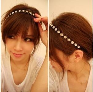 2015 High Quality Steampunk Headband Silver Shining Rhinestone Hair Accessories A16R5C