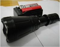 Free shipping cheap Wholesale 1600 Lumens 100m Underwater Diving CREE XM-L LED Flashlight Torch Waterproof Light 18650 charger