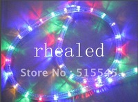 LED Christmas Flexible Rope Strip Light 220v Round 4 Wires Coloful RGB