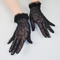 2 double sunscreen gloves anti-uv elegant lace gloves driving gloves(China (Mainland))
