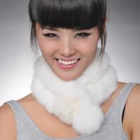 High quality 2012 winter big rabbit fur scarf female for winter/ fur scarf