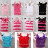 wholesale petti tops chiffon ruffle rainbow sleeveless tank tops baby girls toddler kids children's strap pettitops