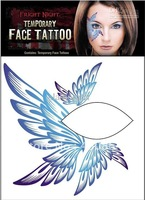 200pcs hot Rocking Face & Body Tattoo Sticker Temporary Tattoos , eye shadow stickers, Mix 12 styles