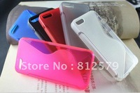 Newest S Line TPU Case for apple iphone 5 5g , S Wave Gel soft TPU case for new iphone5,Free Shipping