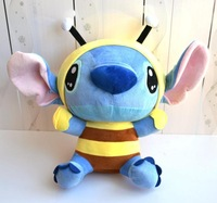 Free Shipping !2012 Hot Selling 35cm Super Cute Plush Toy Doll Stitch Interstellar Baby Changeable Bee