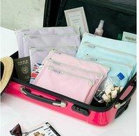 Free shipping Wholesale NEW Mesh Organizer Multi Bag Travel Bag Pouch, 3pcs/set