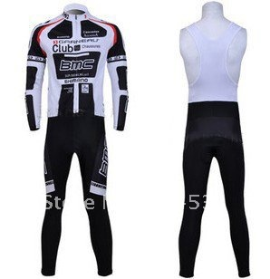 2011BMC Winter Thermal Fleece Long Sleeve Cycling Jersey+BIB Pants Set /Bike Suits/Sport Cloth/Sport Wear/Bicycle Clothing L103(China (Mainland))