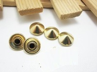 Diy rivet bag shoes clothes material punk metal rivet bucket 10 mm golden blind rivets fastener