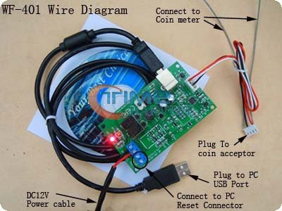 USB computer control board for Coin Operated Computer/USB timer control Adpter board /used at almost any public or private place(China (Mainland))