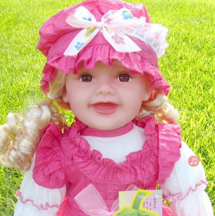 Language English or chinese Speaking Baby Alive Girl Doll Toy Talks 24 early learning Intelligent doll story telling baby toy(China (Mainland))