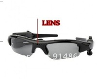new arrived  4GB Black blue red  4 IN Camera +Video +MP3+Bluetooth  Sunglass  6pcs /lots DHL free shipping cost