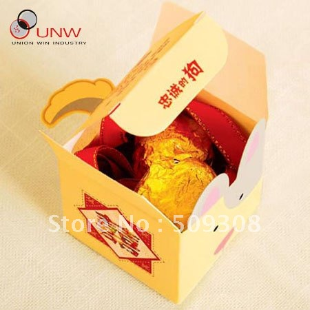 Chinese Zodia dog design,500pcs/lot wedding invitation silk boxes(China (Mainland))