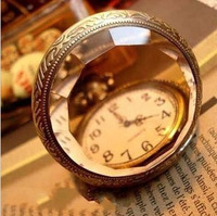 pop accessories vintage royal brown mirror pocket watch antique necklace