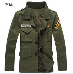 2012 promotion military jacket men,badge thin causal spring jacket wholesale Free Shipping M-XXL(China (Mainland))