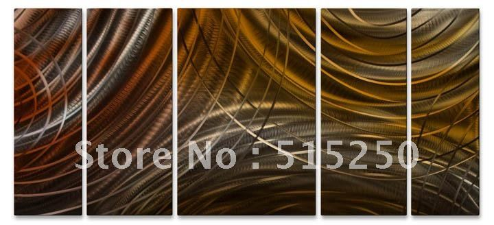 Connecting Rings II Metal Wall Sculpture by Ash Carl, Modern Home Decor :framed(China (Mainland))