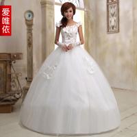 Free Shiopping! Newest Arrival Fashion Sexy High-quality Spaghetti Strap Flower Sweet Princess Bride Wedding Formal Dress