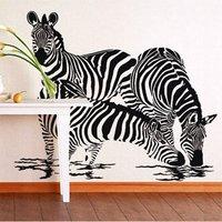 Free Shipping Wholesale  Wall stickers Home Garden Wall Decor  Vinyl Removable Art Mural Home decor Zebra S-63