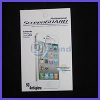 20pcs/lot For iPhone 5 With Retail Package Matte Antiglare LCD Screen Protector Free Shipping