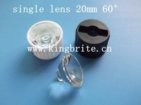 free shipping 300pcs/lot Led Lens 60 Degree For 1w 3w Lamp single lens