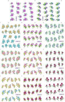 Free shipping BLE Series  Nail stickers/ water transfer Nail art /BLE