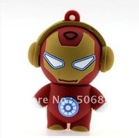 Cartoon iron man 4GB 8GB 16GB 32GB USB 2.0 Flash Pen/Stick/Thumb Drive Memory