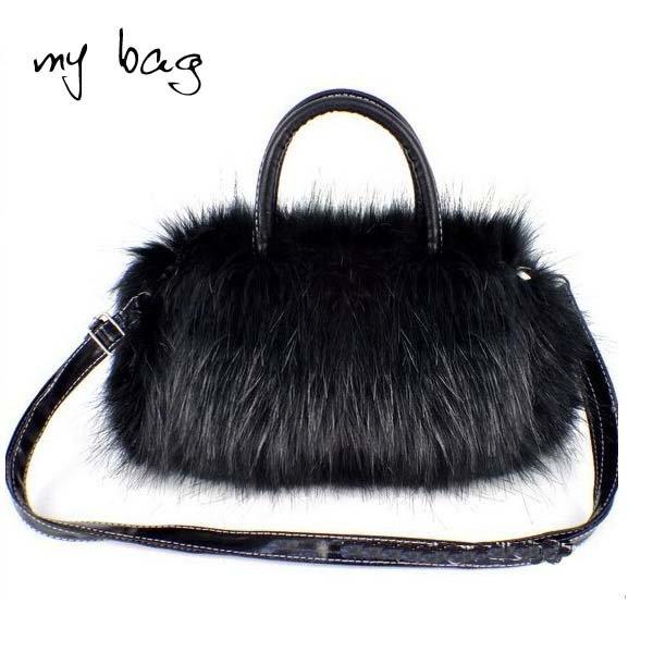Drop/Free shipping!HOT! (1 pc) Fashion plush fur bag cute bags fashion handbags Wholesale and retail C57(China (Mainland))