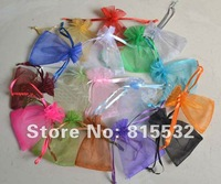 Festival wholesale 100pcs 7x9cm Christmas / Wedding voile gift bag Organza Bags Jewlery packing Gift Pouch Aah Free shipping